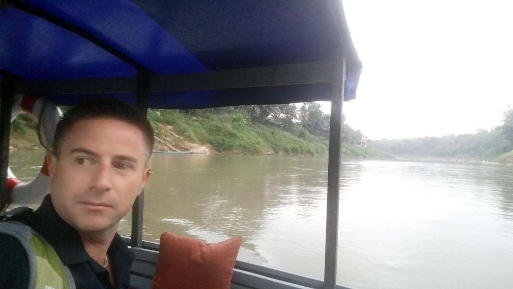 Boat crossing Nam Khan