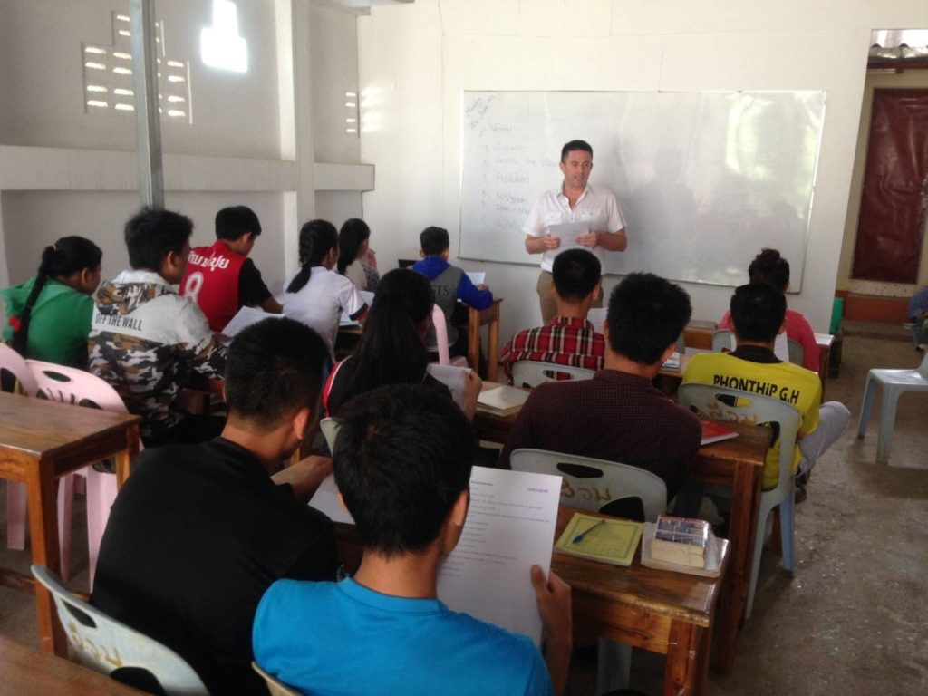 Transferring skills to teachers in Lao schools